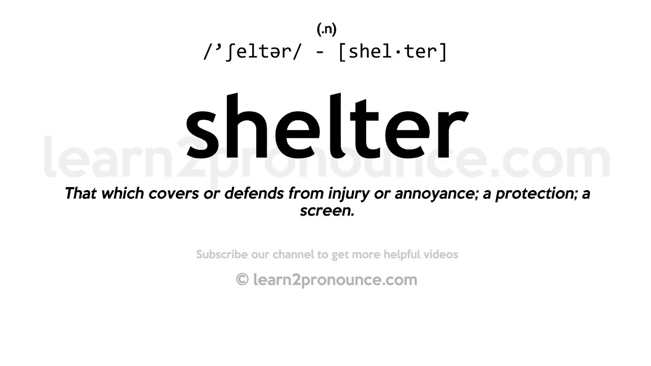 How to pronounce Shelter  English pronunciation
