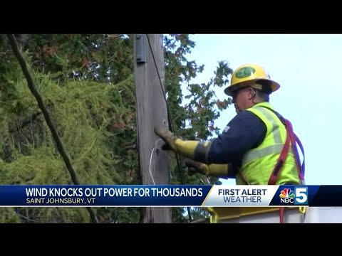 Windstorm knocks out power for thousands of Vermonters