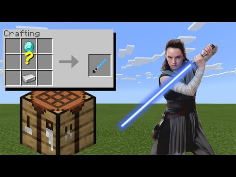 How To Craft Lightsabers - Minecraft
