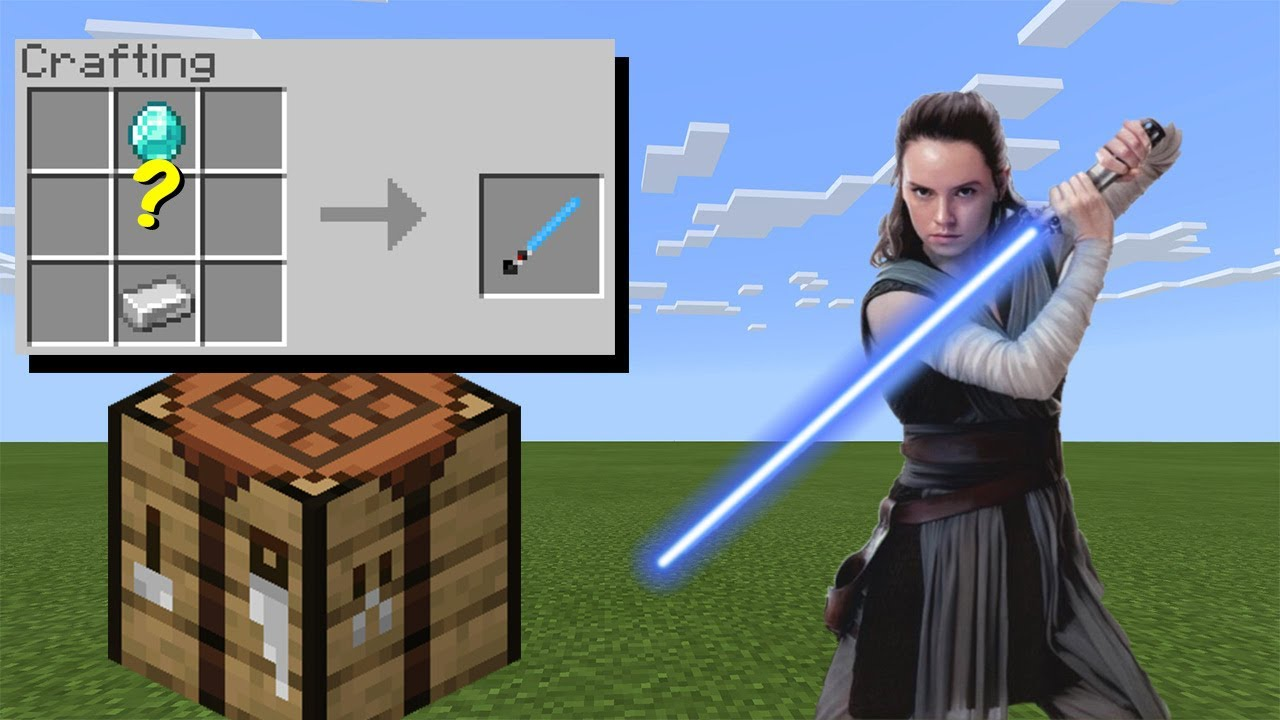 How to Craft Lightsabers Minecraft YouTube