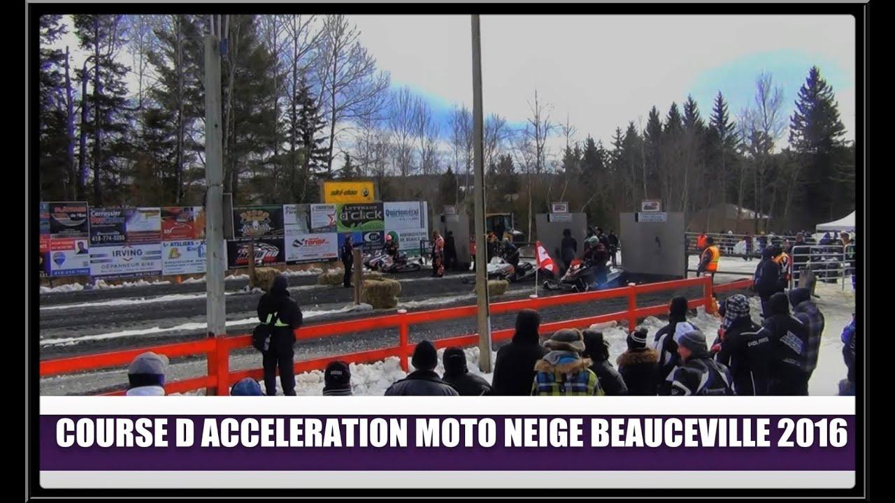 Course d'accélération de motoneige 2016(Hier à Aujourd`hui)