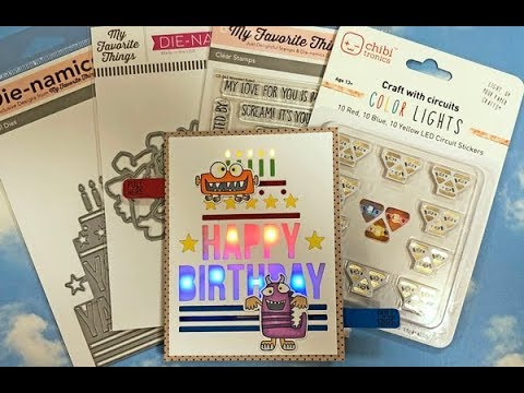 How To Make Light Up Monster Birthday Card