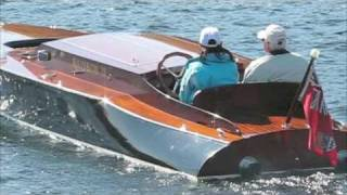 Chris Craft V12, BPM engines, Antique Race Boats with Mindy