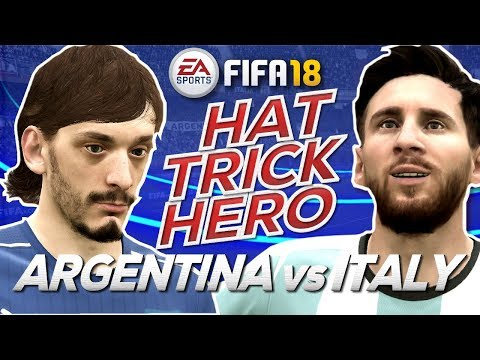 FIFA18 Argentina vs Italy - Who is the Hat-Trick Hero?