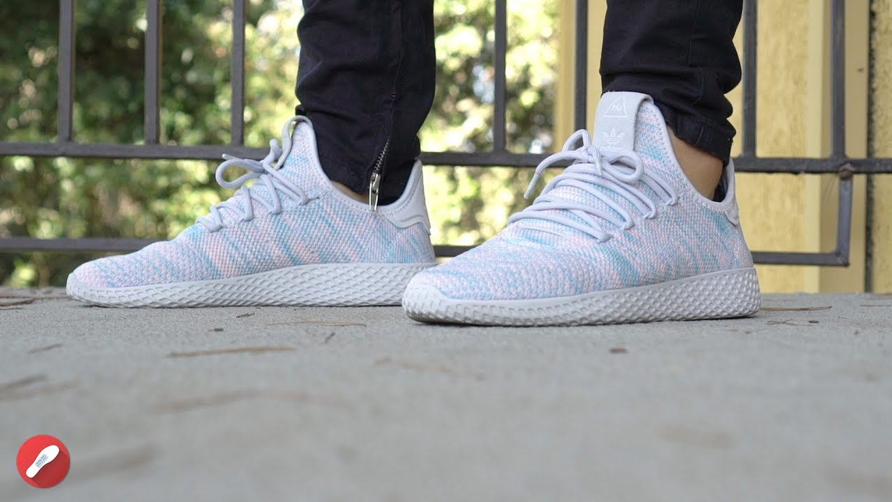 039404856 Adidas Pharrell Williams Tennis Hu Shoes Review! - YouTube