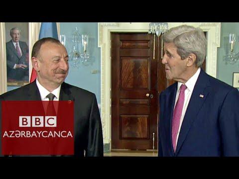 İlham Əliyev və John Kerry bəyanat verir [Azərbaycanca]
