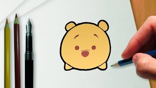 Como desenhar o Ursinho Pooh na versão Disney Tsum Tsum