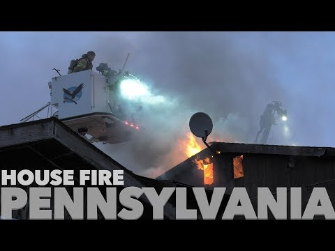 New Years Day House Fire In Pennsylvania