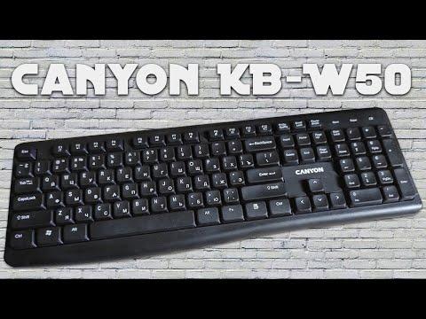 Клавіатура бездротова Canyon KB-W50 (CNS-HKBW05-RU)