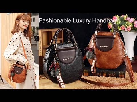 Luxury Looking Latest Fashion PU Leather Handbags  For Women
