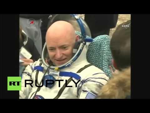 Kazakhstan: Scott Kelly and Mikhail Kornienko safely return to Earth