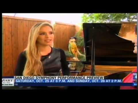 Lola Astanova, guest artist, San Diego Symphony - San Diego 6 appearance