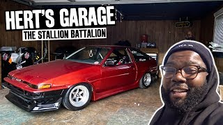Hert's K20 Swapped 240sx FIRST Burnout! A How Not to Clean a Home Garage