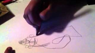 How to draw hanuman by abiram