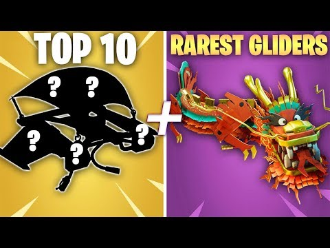 TOP 10 RAREST GLIDERS IN FORTNITE (99% Of Players Don't Have These) - Ranking Rare Gliders Chapter 2