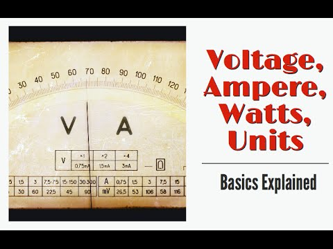 Understand Voltage, Ampere, Watts and Unit of Electricity