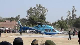 Mayavati's helicopter take off in maudaha