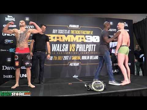 Bamma 30 Weigh Ins from the Green Isle Hotel, Dublin