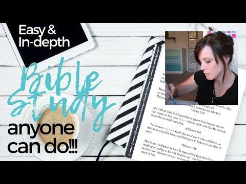 Easy, in-depth Bible Study tips