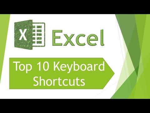 Excel 2013 - Top 10 Keyboard shortcuts