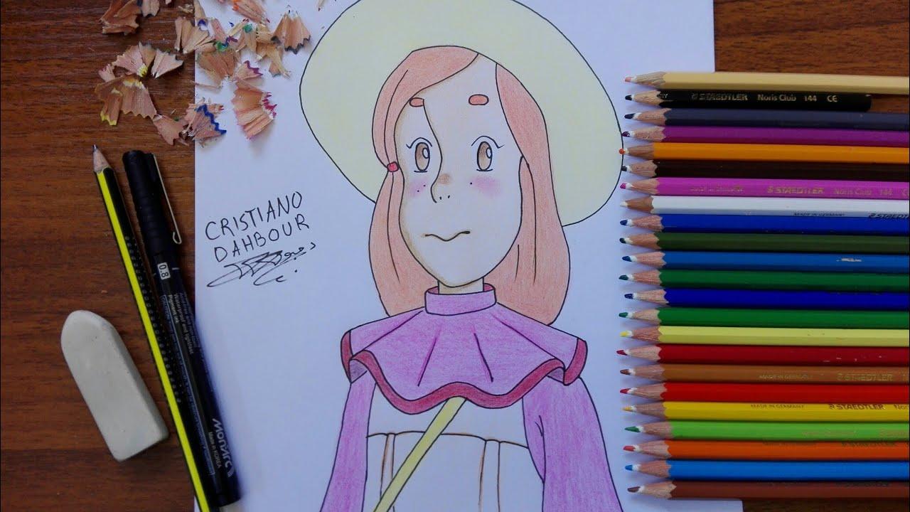 تعلم رسم فلونة من كرتون فلونة رسم شخصيات سبيستون Youtube