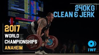 Fernando Reis | 240kg Clean & Jerk