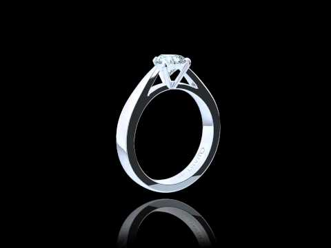 Quantum Infinity Engagement Ring With Heart Cut Diamond on Hand