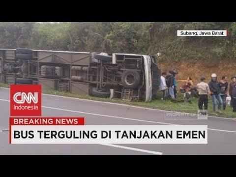 Belasan Penumpang Dikabarkan Tewas, Evakuasi Masih Belangsung; Kecelakaan Bus di Tanjakan Emen