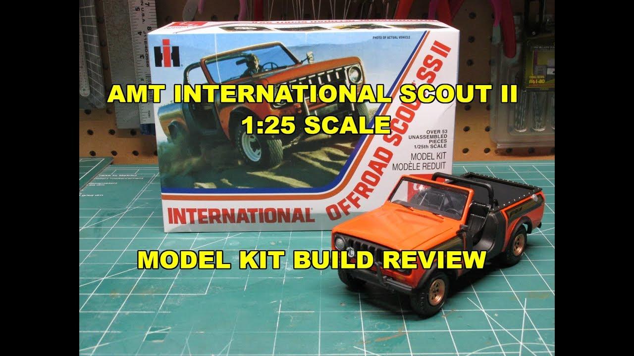 1102 Jeep Style Model Kit 1//25 AMT International Offroad Scout SS II Model Kit