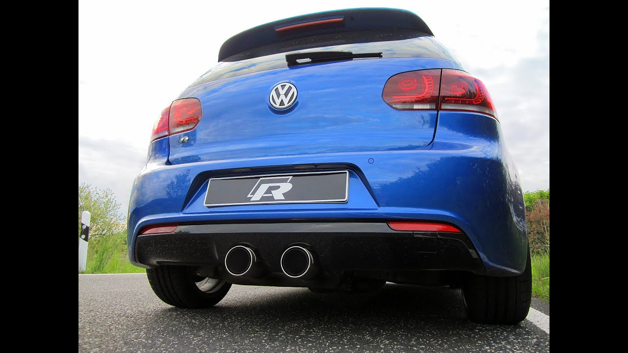 vw golf 6 r remus auspuff ab kat mk6 exhaust sound. Black Bedroom Furniture Sets. Home Design Ideas