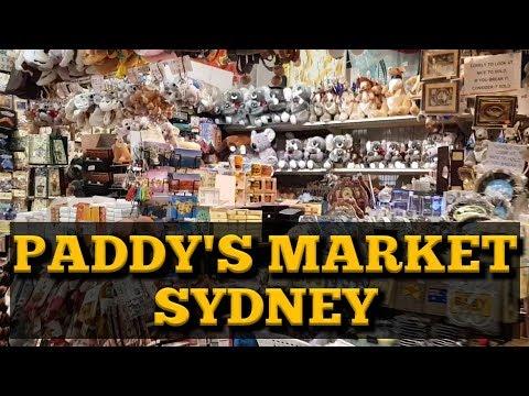 Shopping At Paddy's Market Sydney. Buy Australia Souvenirs. Cheap Bargain Souvenirs.