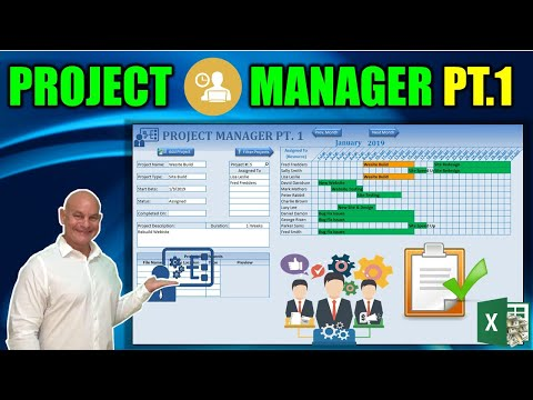 How To Create A Project Manager In Excel [Part 1]