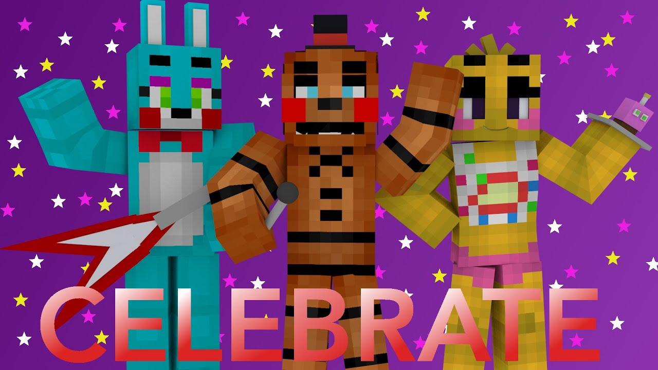 Celebrate a minecraft fnaf blender render youtube