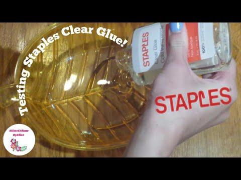 Testing out Staples Clear Glue to Make Slime!  SlimeESlimeByElise