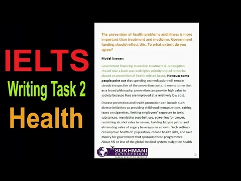 IELTS Writing Task2 Health Problems Prevention Topic