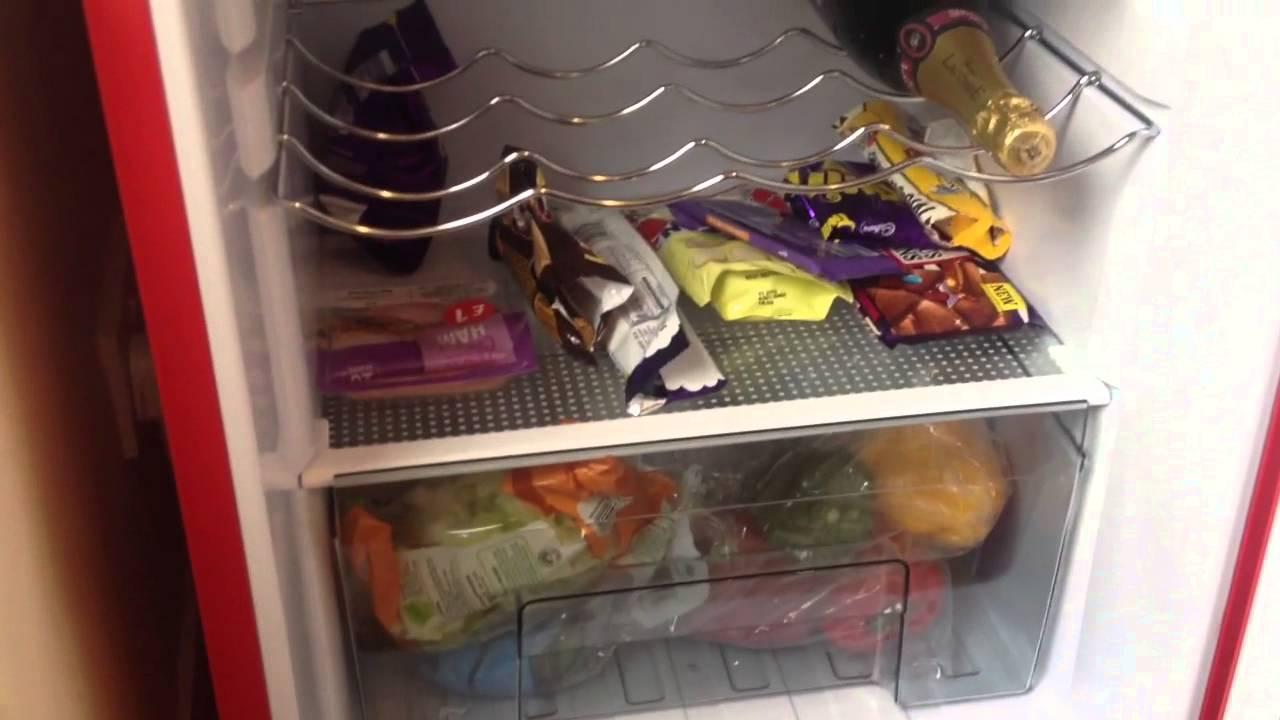 Retro Kühlschrank Big Chill : My swan sr11010rn retro red fridge freezer youtube