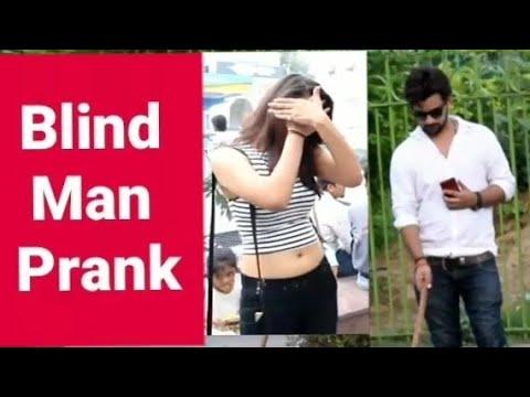 Blind Man Prank On Hot Girls || Pranks in india || New Pranks 2019 || Harsh Chaudhary