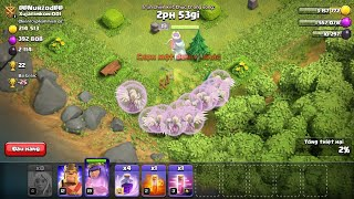 NMT| Clash of clans| NMT Thử đánh full 15 healer + Queen lv 19