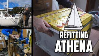 Sail Life - Battery compartment, solar arch and toe rail - DIY sailboat projects