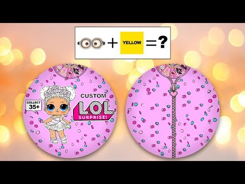 Opening 2D Paper Custom LOL Surprise Dolls #3 - YouTube