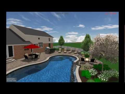 Outdoor Living 3D Design - VizX Design Studios - Landscape Design