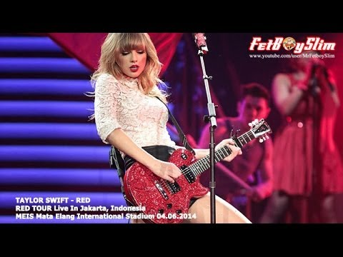 TAYLOR SWIFT SPEAK INDONESIA - RED live in Jakarta, Indonesia 2014