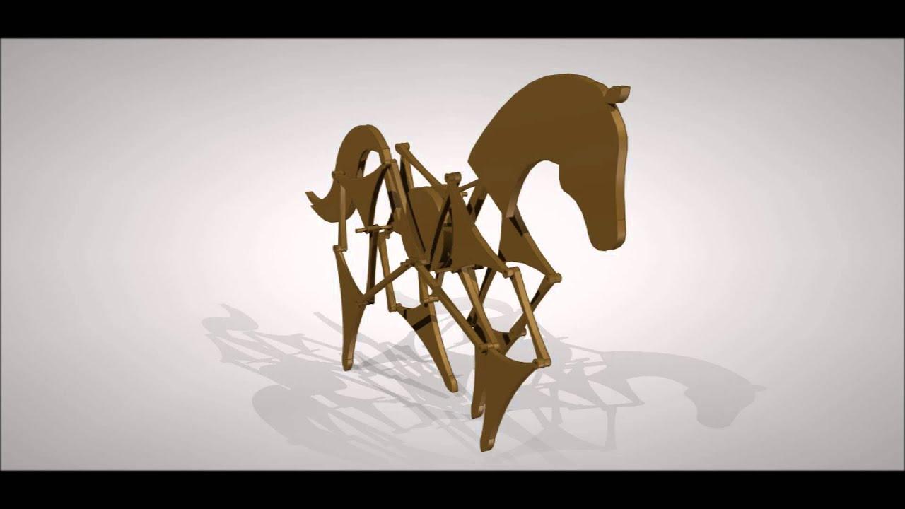 caballo de juguete mecanismo Theo Jansen - YouTube