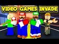 VIDEO GAMES INVADE JAILBREAK! (ROBLOX Jailbreak)