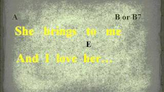 And I love her by the beatles Chords and Lyrics