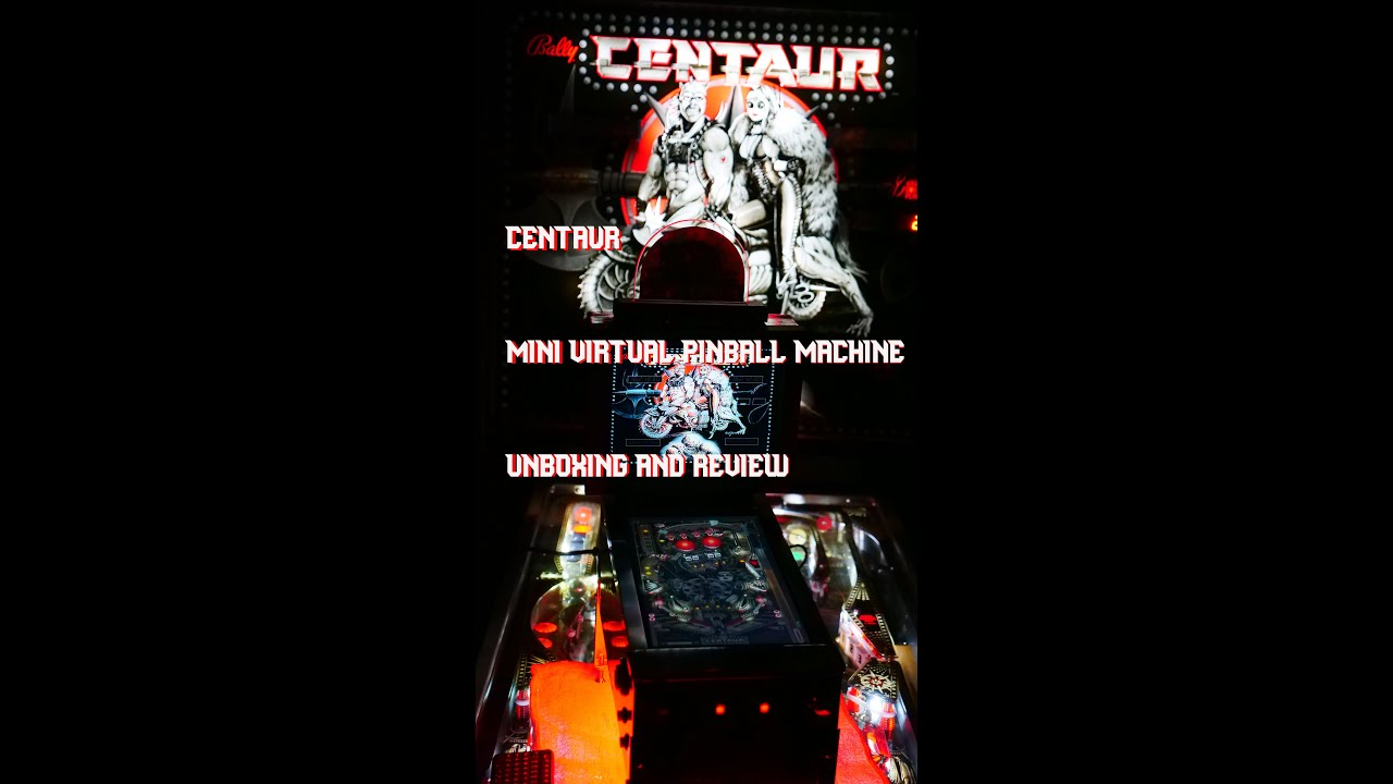 Centaur Miniature Virtual Pinball Machine Unboxing & Review | dadclip