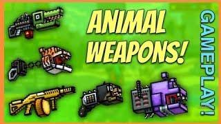 Pixel Gun 3D оружия животные челенж