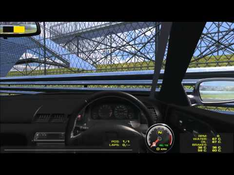 rFactor - Subaru Impreza STi driving up mountain (Transfagarasan