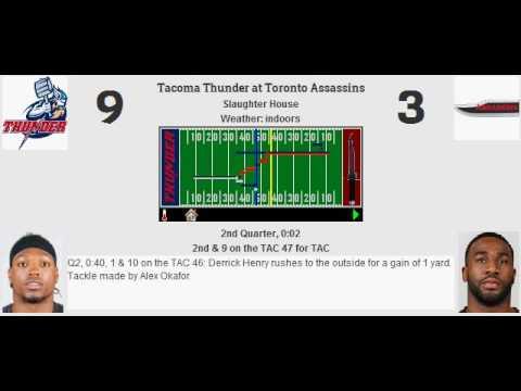 Week 13: Tacoma Thunder (7-5) @ Toronto Assassins (3-9)