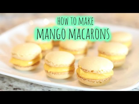 How to make mango macarons | Summer activity